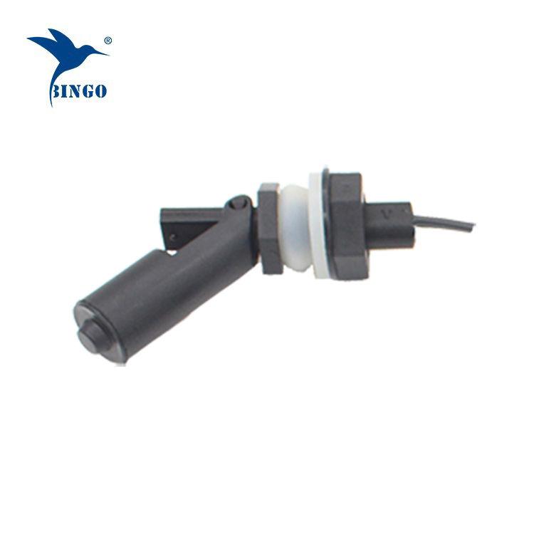 Su dağıtıcısı için M16 iplik bağlantısı siyah yatay elektrikli su şamandıra anahtarı