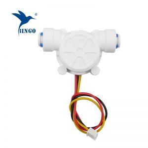 G1 / 4 pe boru 0.2-8l / dak 3.5-12vdc su akış sensörü