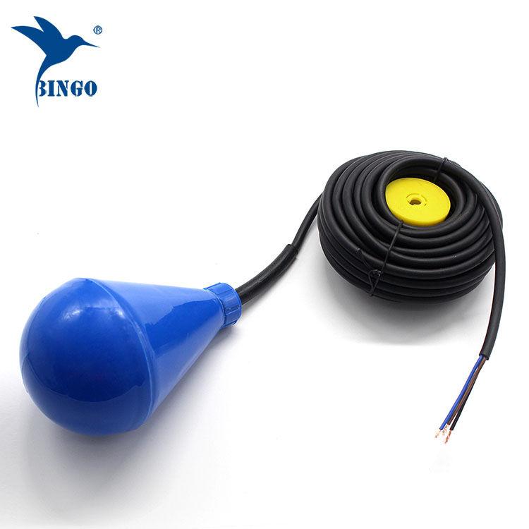 PVC kablo ile subuliform şekilli su deposu seviye şamandıra anahtarı